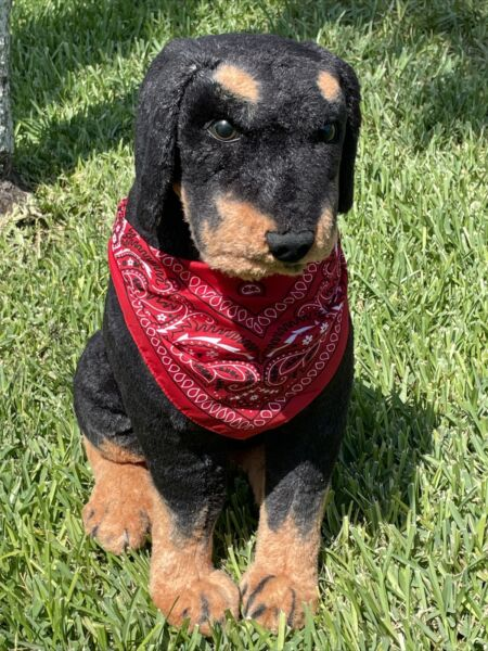 Best Made Toys Limited Rottweiler Dog 25#x27;#x27; Tall Realistic Plush Stuffed Animal $74.99