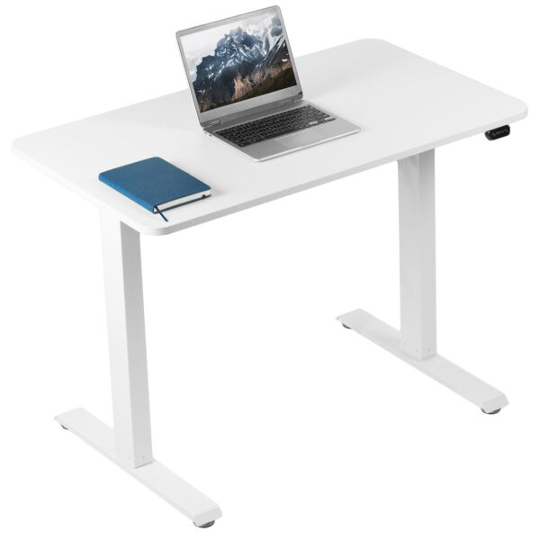 VIVO White Electric 40quot; x 24quot; Sit Stand Desk Height Adjustable Workstation $209.99