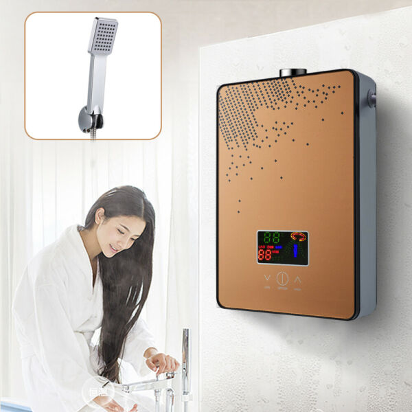 4500W Instant Electric Tankless Instant Hot Water Heater Home Whole House Gold $74.00