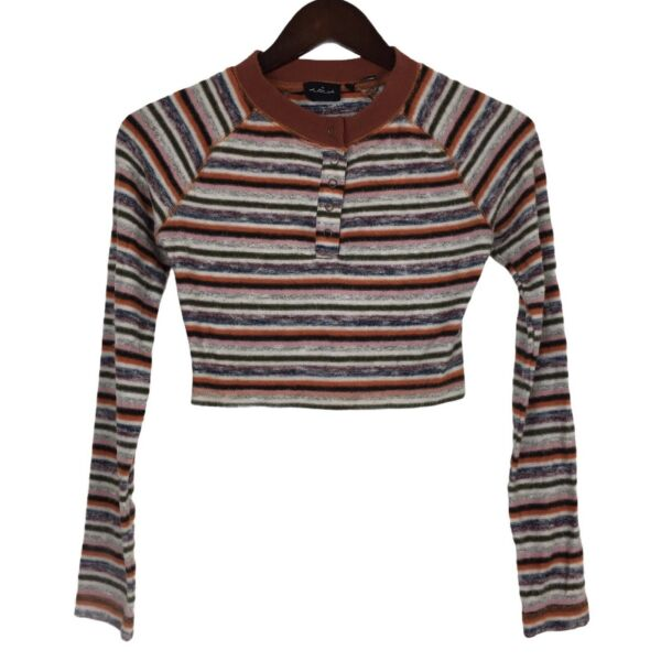 Out from Under For Urban Outfitters Henley Cropped Top Women's Size Small $14.98