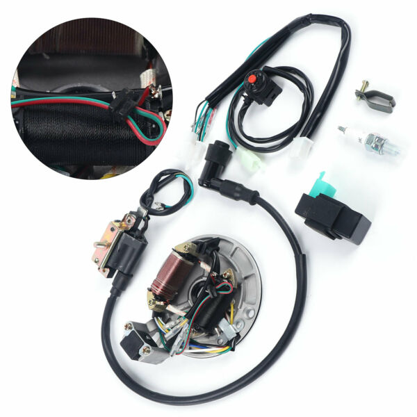 Bike Electric Wiring Harness amp; Magneto Kit For 50 125cc Stator Dirt Pit Bicycle $30.01