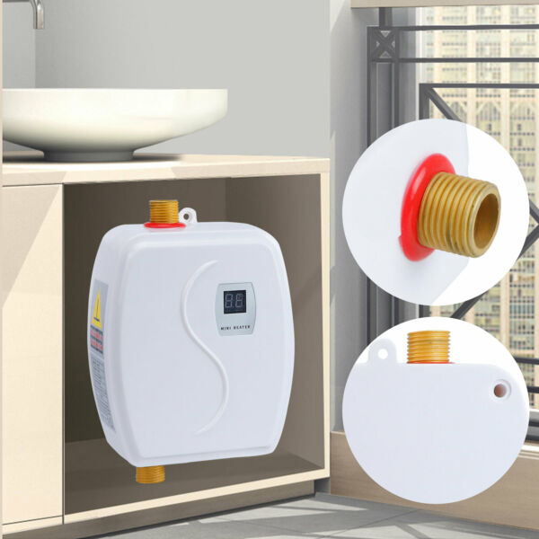Portable Instant Electric Hot Water Heater Tankless Stainless Steel 3000W 110V $48.01