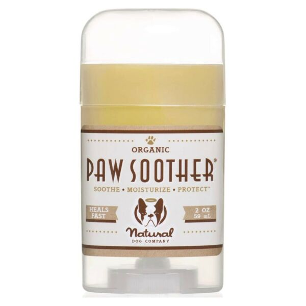 Natural Dog Co Paw Soother Heals Dry Cracked Irritated Dog Paw Balm Pads 2oz $18.00