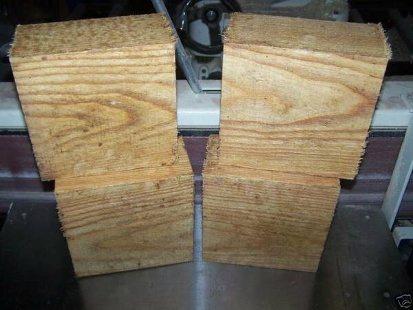 FOUR 4 KENTUCKY COFFEE TREE BOWL BLANKS TURNING LUMBER WOOD 6quot; X 6quot; X 3quot;