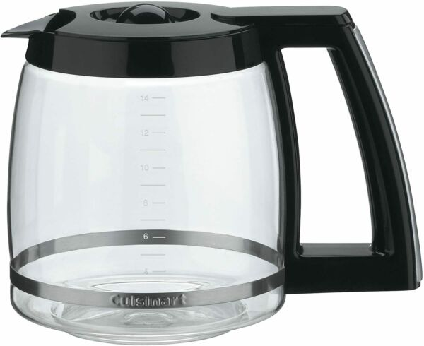 Cuisinart 14 Cup Replacement Glass Carafe Black