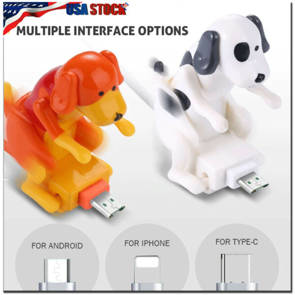 1.2M Funny Humping Dog Fast Charger USB Cable Cord For iPhone Type C Smartphone $11.59