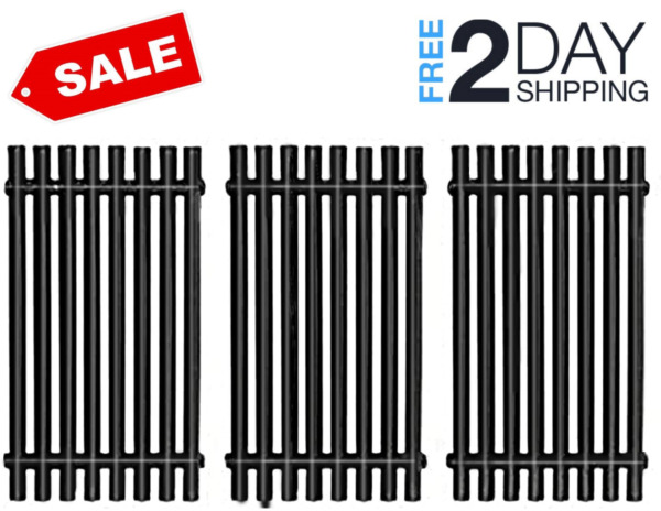 Cast Iron Grill Grates Replacement for Charbroil BBQ Grill 3 Pack