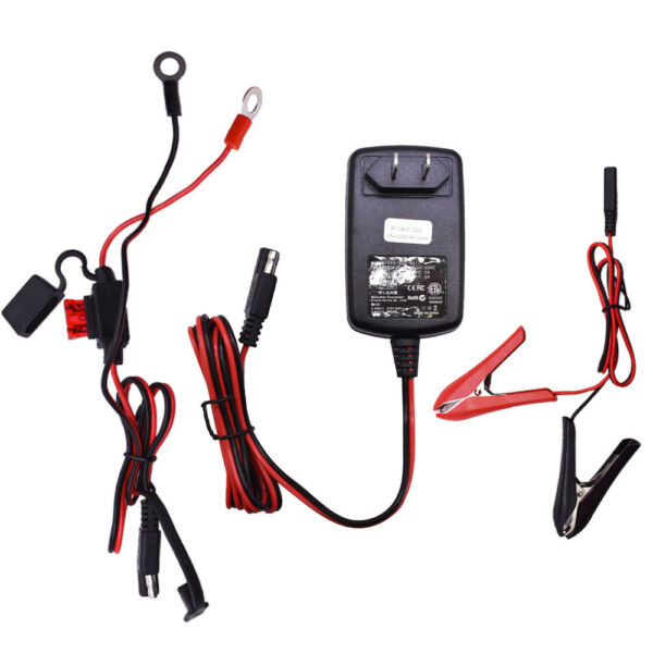 12V 6V Auto Car Trickle Battery Charger Maintainer for Motorcycle Boat $20.91
