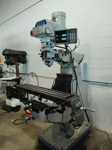 ACRA MILLING AM2V Vertical Variable Speed Milling Machine $6300.00