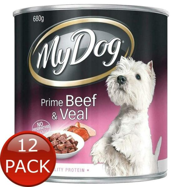 12 x MY DOG PRIME BEEF amp; VEAL 680g PUPPY WET CAN FOOD SNACKS HEALTHY MEAL TREATS AU $58.80
