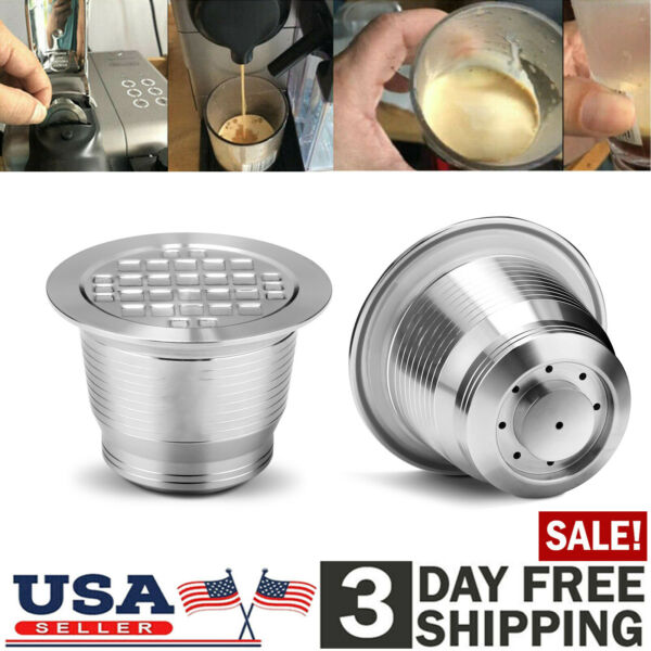 Stainless Steel Reusable Coffee Filter For Nespresso Capsule Pods Refillable Cup