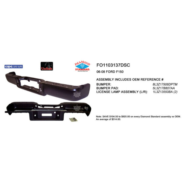 FO1103137DSC New Replacement Rear Step Bumper Assemb Fits Style Side Hitch Style $462.99