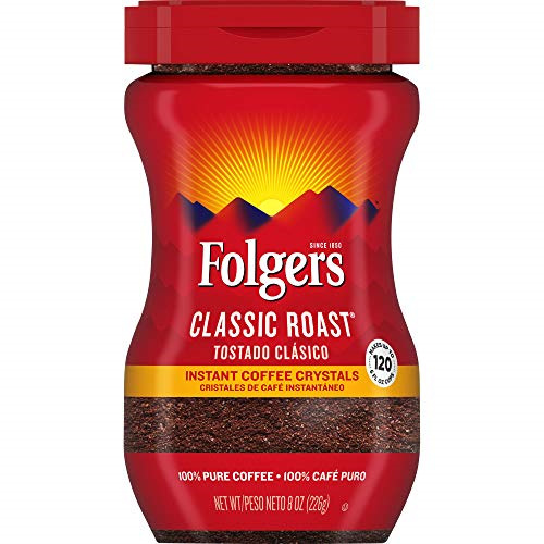 Folgers Classic Roast Instant Coffee Crystals 8 Ounces $6.81