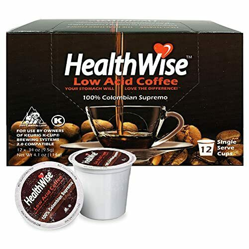 HealthWise Low Acid Coffee for Keurig K Cup Brewers 100% Colombian Supremo
