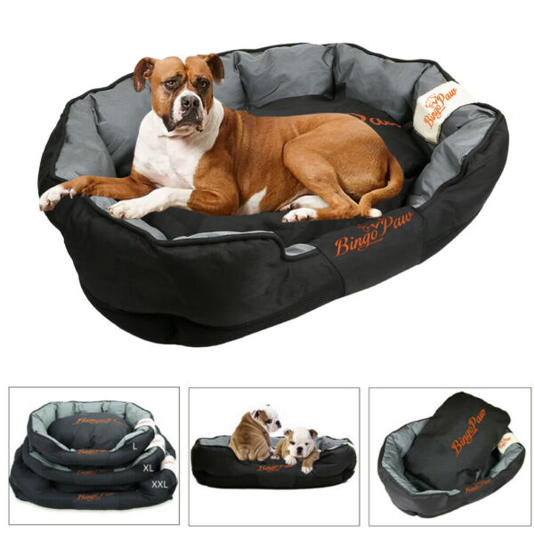 Oversized Waterproof Big Bolster Dog Bed Extra Large Ped Sofa Soft Pillow Couch $59.92
