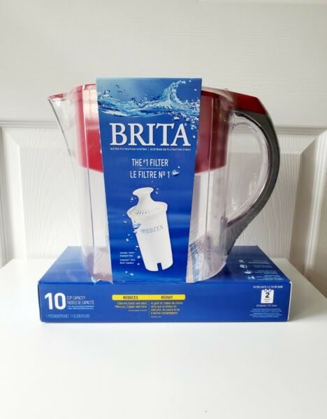 Brita 10 Cup Water Pitcher: 1 Pitcher With 1 Filter