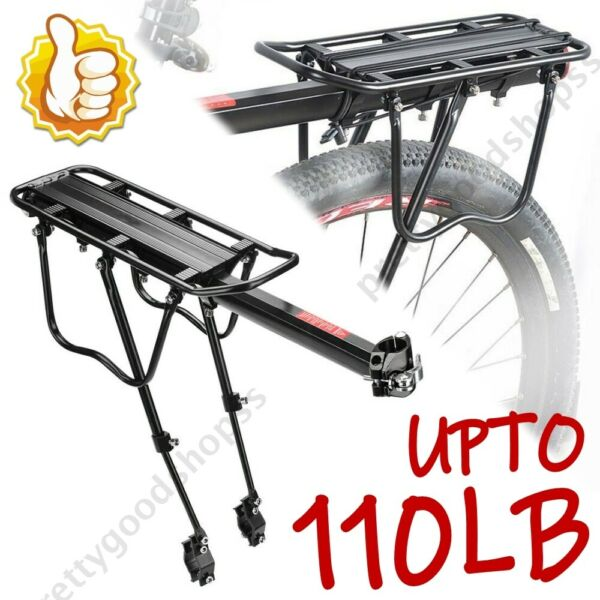 Bicycle Rear Rack Cargo Rack Quick Release Alloy Carrier 110 Lb Capacity $19.99