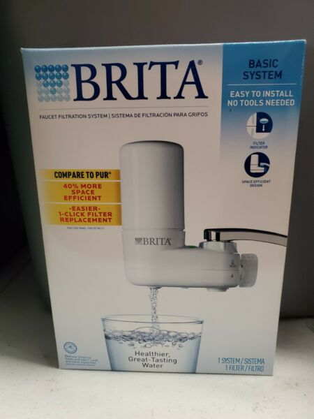 Brita Basic System Faucet Mount Water Filtration Easy Setup New