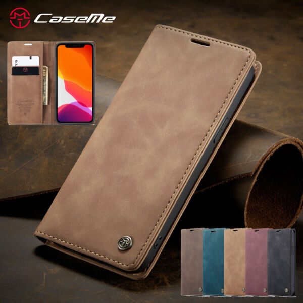 Magnetic Wallet Case Flip Leather Cover For iPhone 13 12 Pro Max 11 XS XR 8 76