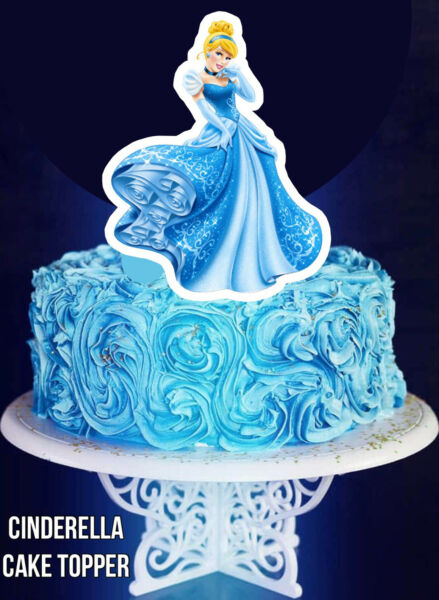 Cinderella Cake Topper Birthday Party 7 Cupcake Toppers Cenicienta Cumpleaños