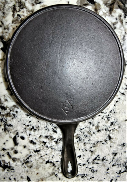 Chicago Hardware Cast Iron 8quot; Skillet #5 Heat Ring Diamond Mark CLEANED $58.99