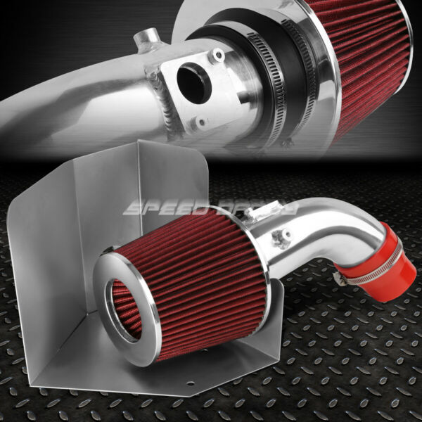 FOR 07 09 TOYOTA CAMRY I4 2.4 ALUMINUM 4quot;COLD AIR INTAKERED FILTERHEAT SHIELD $55.88