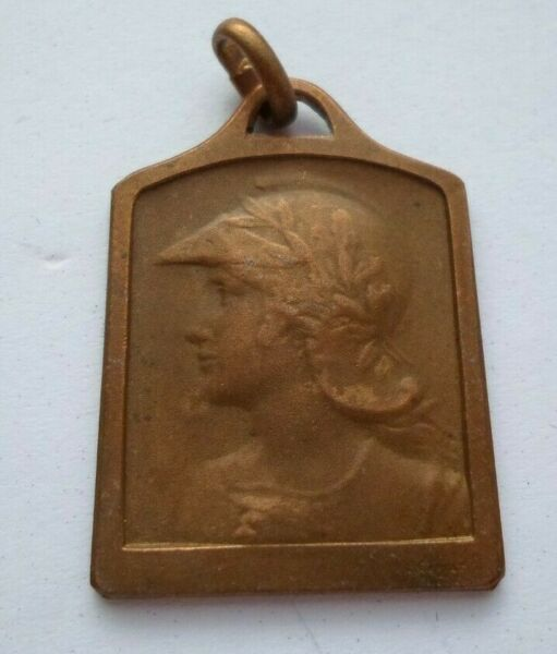 MARIANNE PENDANT BRONZE MEDAL by CARIAT MEDAILLE TOURS