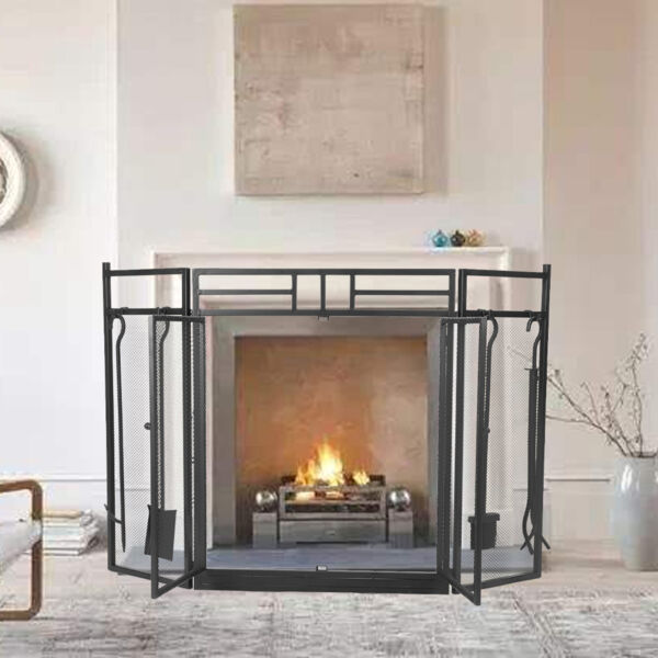 Fireplace Screen Fireplace Screens Guarantee The Safety Wrought Iron Steel