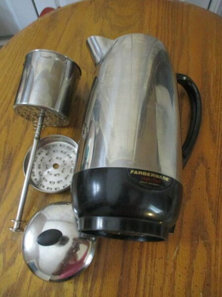 VINTAGE FARBERWARE 12 CUP ELECTRIC COFFEE POT W FILTER AND PLUG