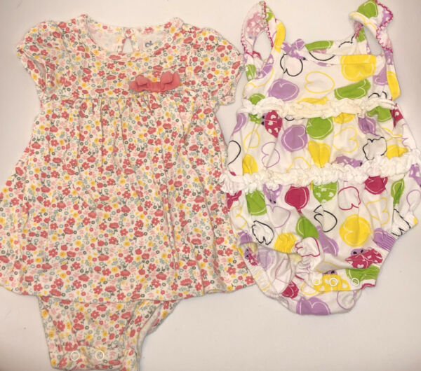 BABY GIRLS SIZE 0 3 amp; 3 MONTHS OUTFITS ROMPERS EUC