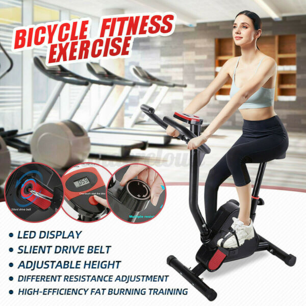 Indoor Exercise Bike Sports Bicycle Fitness Equipment Home Gym Workout with LCD $92.92