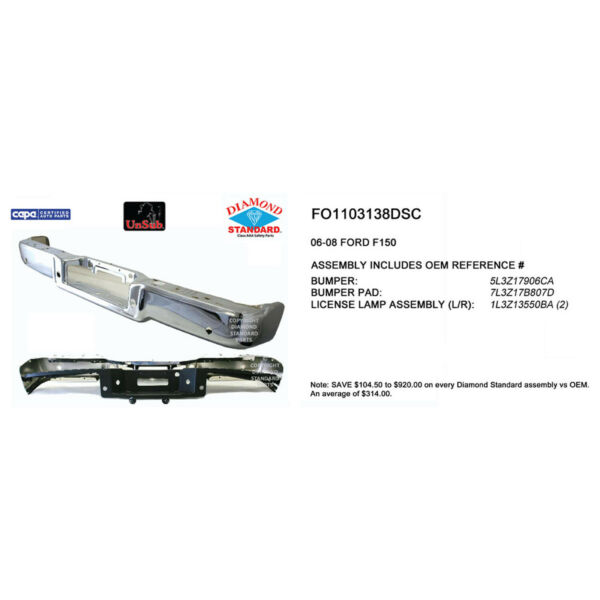 FO1103138DSC New Replacement Rear Step Bumper Assemb Fits Style Side Hitch Style $518.75