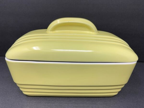 Vintage HALL Westinghouse YELLOW Covered Refrigerator Dish USA