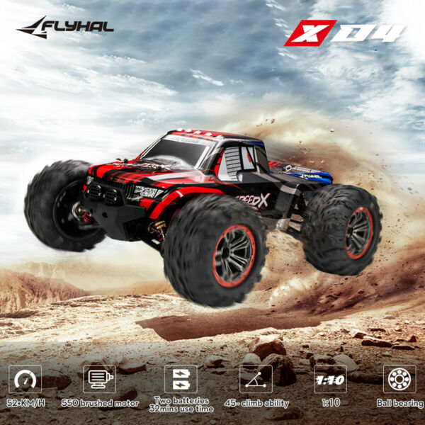 1:10 Rc Car 4wd Remote Control Brushless Monster Truck Off Road High Speed $89.89