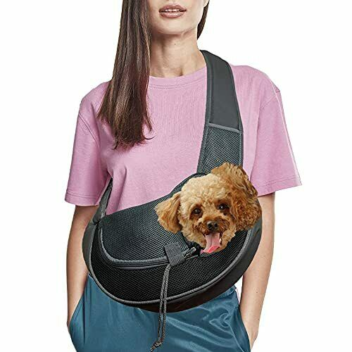 Dog Carriers for Dogs Breathable Mesh Travel Safe Puppy Sling Small Black $26.17