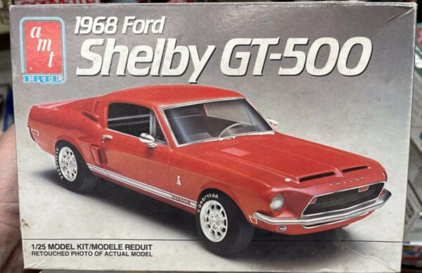 AMT 6541 1968 FORD MUSTANG SHELBY GT 500 1 25 MODEL CAR MOUNTAIN kit NIB si $24.88