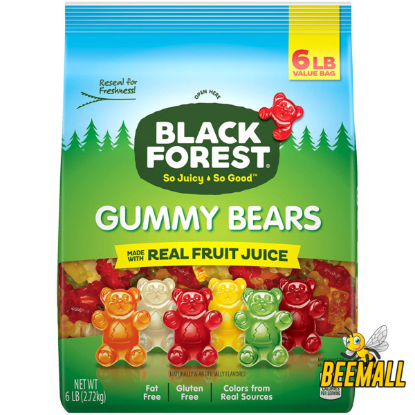Black Forest Gummy Bears Candy 6 Lb FAST SHIPPING