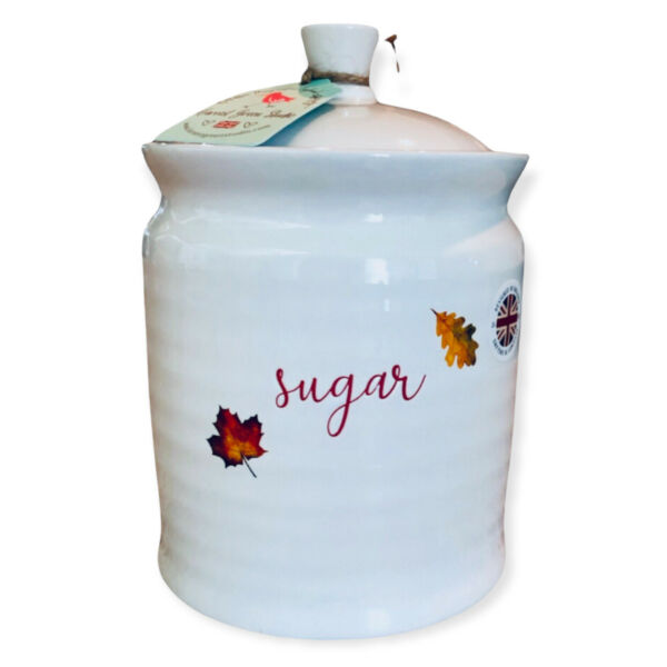 Harvest Green Studio Coffee Storage Canister Autumn Leaves New