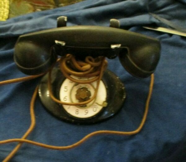 partial Western Electric model D 1 telephone with model F 1 W handset $31.00