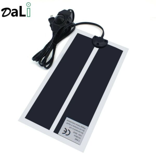 Reptile Heating Pad Under Tank 6 X 11 With Adjustable Thermostat 7w 120v $11.00