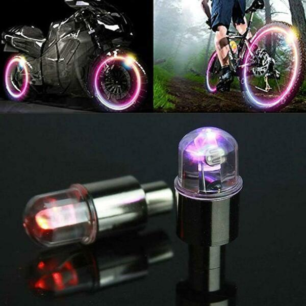 LED Valve Stem Caps Neon Light Car Bicycle Accessories Waterproof Youth Cycling $1.50