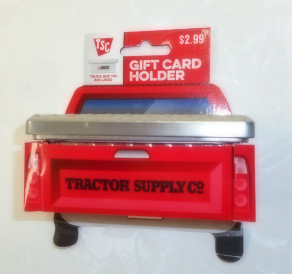 Tractor Supply Co. Tin Truck Tool Box Gift Card Holder $19.99