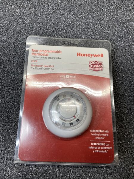 Honeywell CT87N The Round Non Programmable Heat Cool Thermostat NEW SEALED $29.99