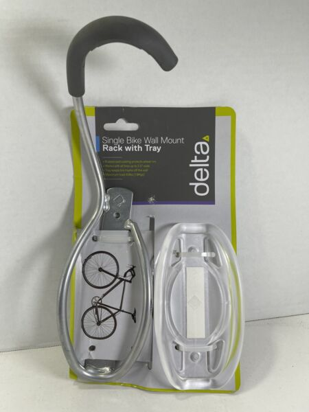 Delta Single Bike Wall Mount Rack with Tire Tray: Holds One Bike. Sealed $18.75