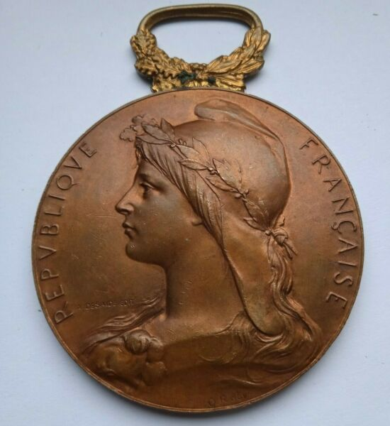 MARIANNE FRENCH REPUBLIC 59mm ART MEDAL by OSCAR ROTY MEDAILLE RENNES