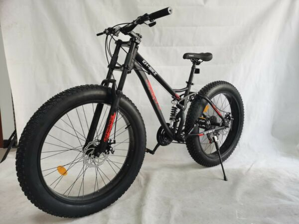 26in 4quot;W Fat Tire Mountain Bike 21 Speed Bicycle High Tensile Steel Frame MTB 🚴 $325.50