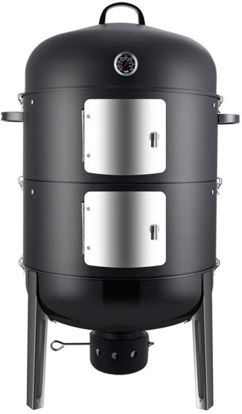 Realcook Charcoal BBQ Smoker Grill 20 Inch Vertical Smoker for Outdoor Cooking