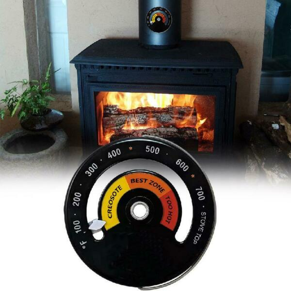 Magnetic Wood Stove Thermometer Heat Powered Temperature Gauge for Log Burning $5.48