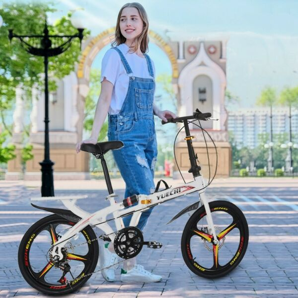 20in Folding Compact Full Suspension Bike 7 Speed City Bicycle For Commuters $181.48