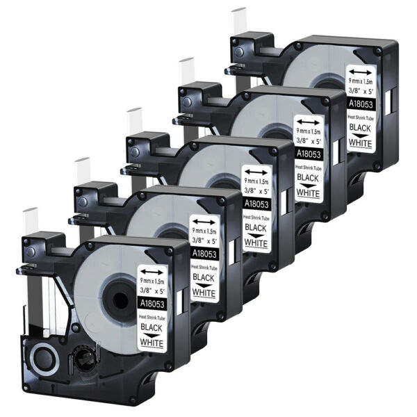 5×Heat Shrink Tube For DYMO Rhino 5000 5200 6000 18053 Industry Label Tape 0.35quot; $27.75